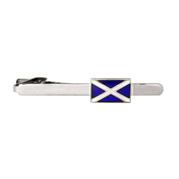 Scottish Flag Rectangular Tie Bar