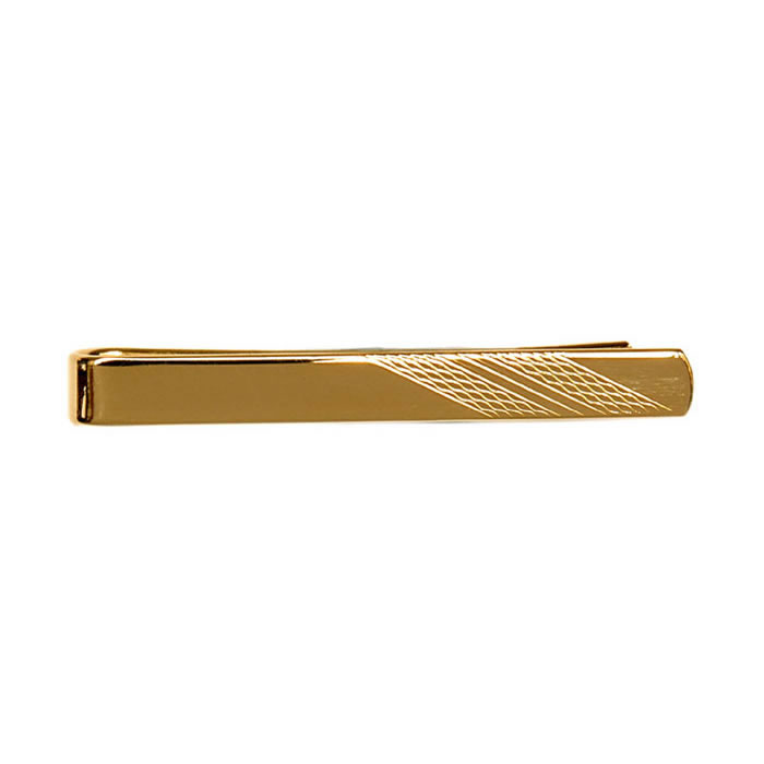 Barley Effect Striped Tie Bar