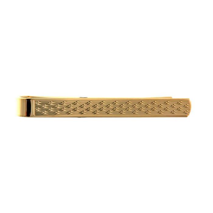 Wave Style Effect Tie Bar