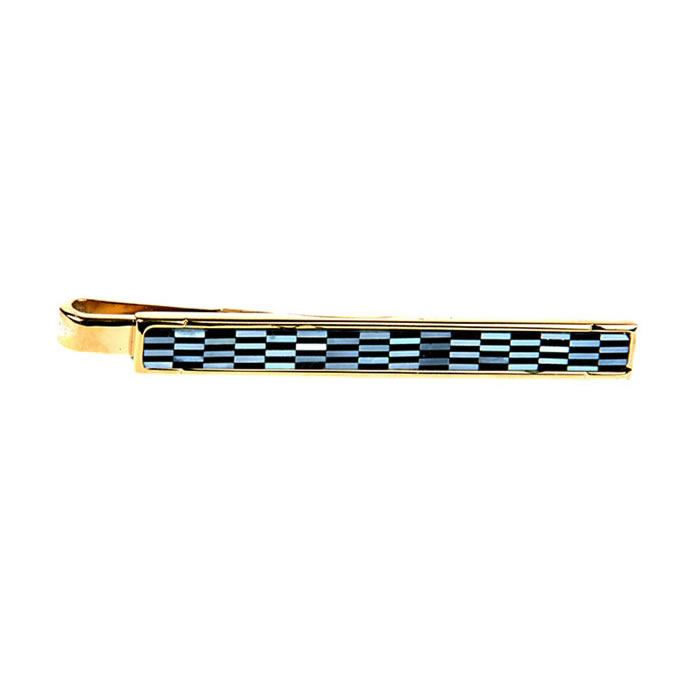 Onyx And Mother Of Pearl Tie Bar