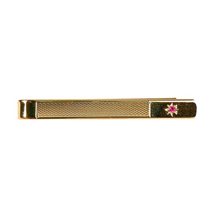 Barley Effect Ruby Tie Bar
