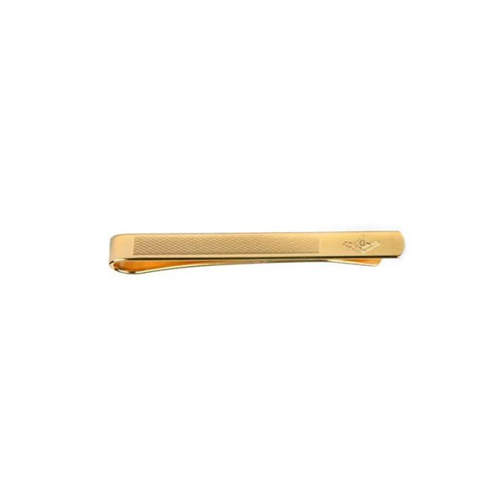 Plain Gold Masonic Tie Bar