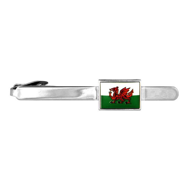 Wales Welsh Flag Tie Bar