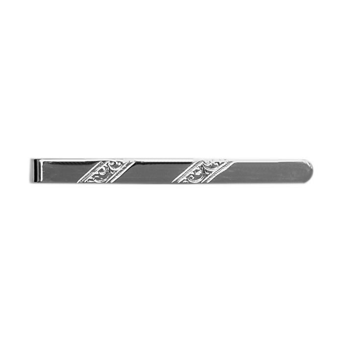 Sterling Silver Silver Venetian Striped Tie Bar