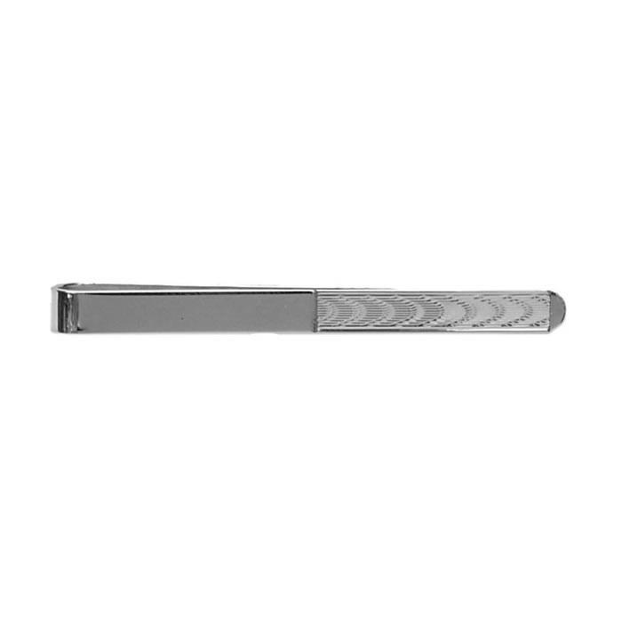 Sterling Silver Silver Ripple Tie Bar