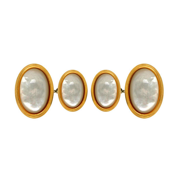 Oval Double Chained Cufflinks