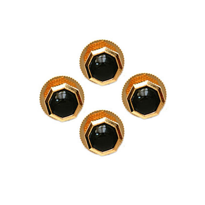 Octagonal Black Enamel Dress Studs Dress Studs