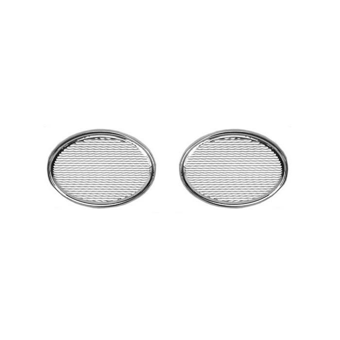 Sterling Silver Oval Wave Cufflinks