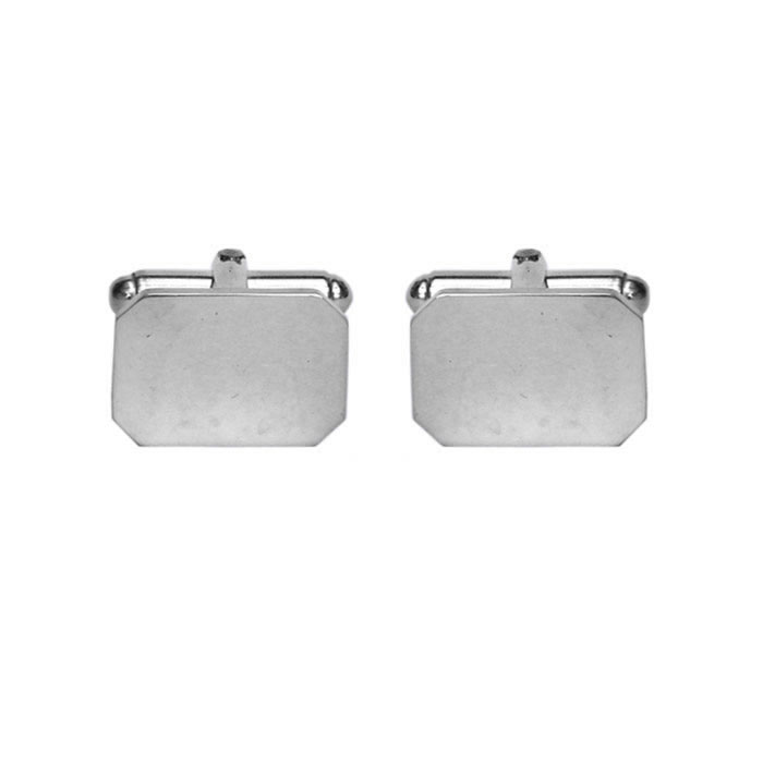 Sterling Silver Octagon Shaped Cufflinks