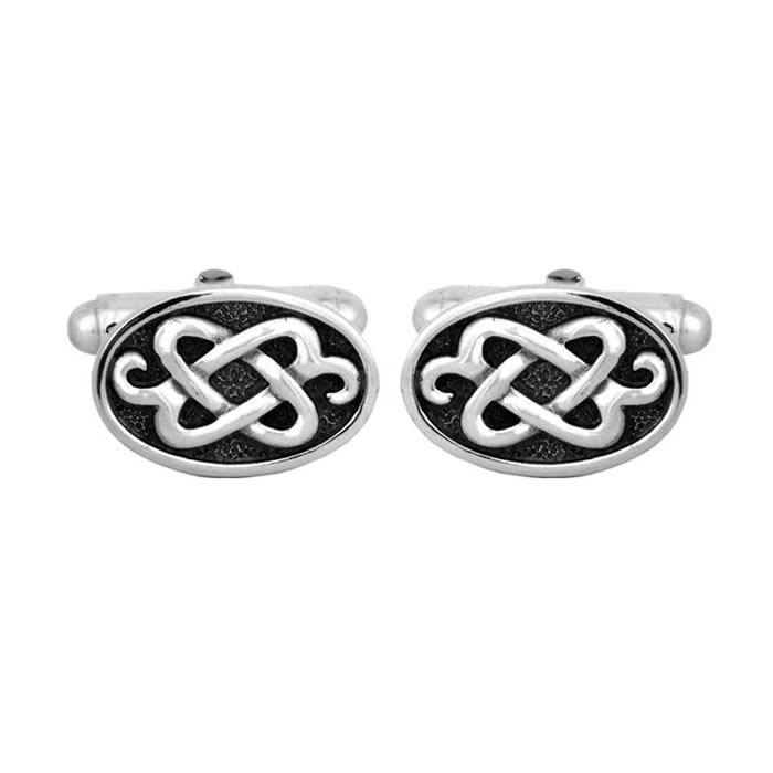 Sterling Silver Hades Tribal Cufflinks