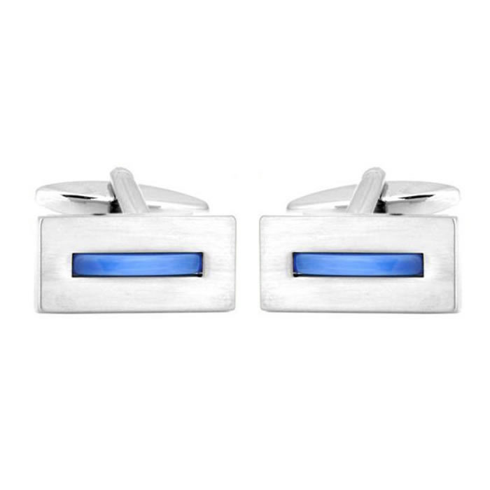 Simple Blue Stripe Cufflinks