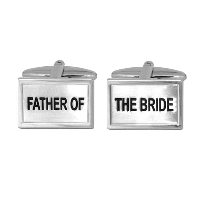 Father Of The Bride Rectangular Cufflinks