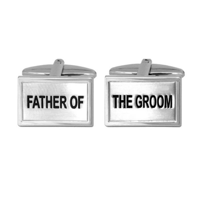 Father Of The Groom Rectangular Cufflinks