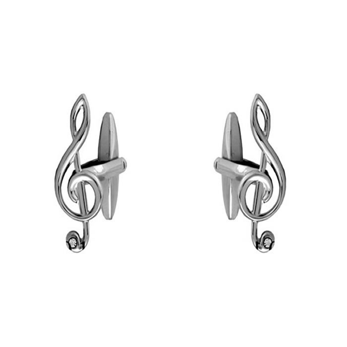 Treble Clef With Crystal