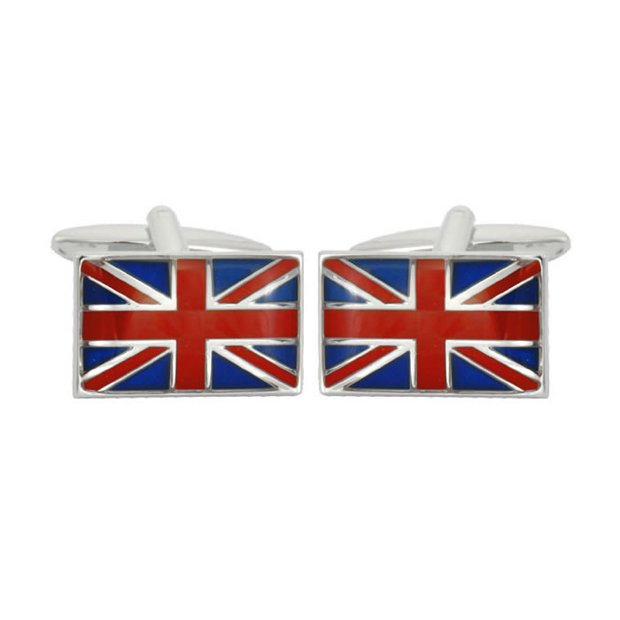 Union Jack Flag Rectangular Cufflinks