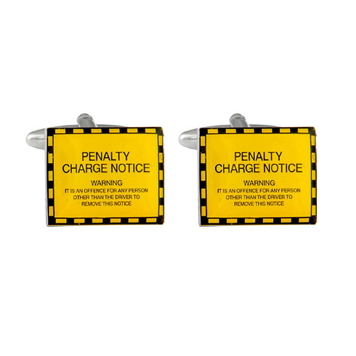 Penalty Charge Notice Cufflinks