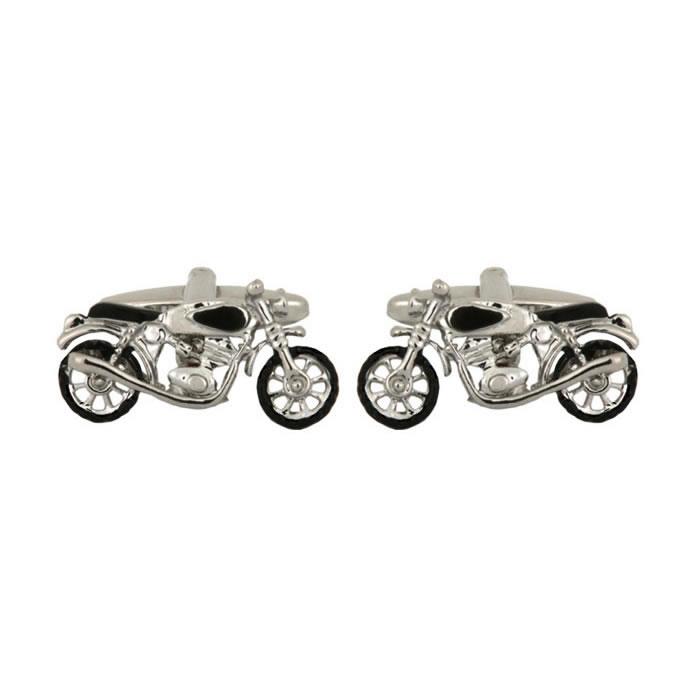 Motor Bike Rhodium Plated