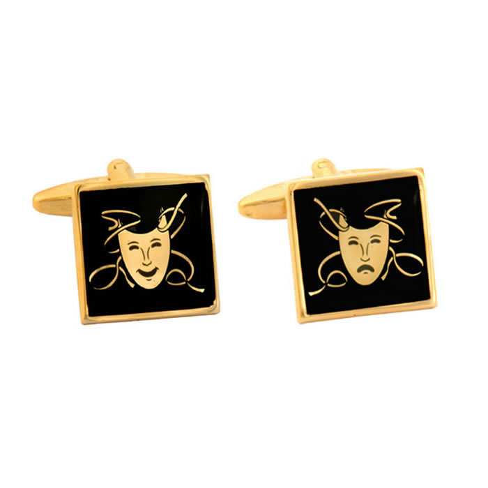Theatrical Mask Square Cufflinks