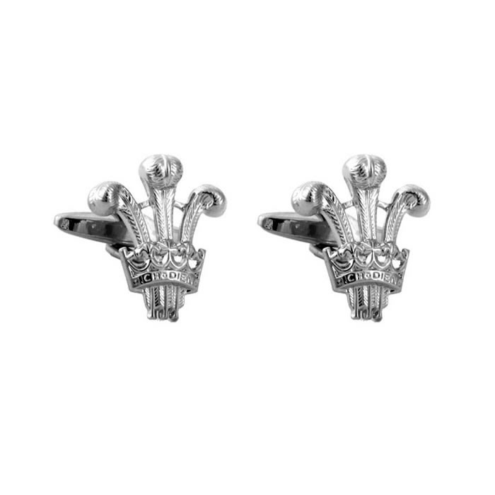Prince Of Wales Emblem Style Cufflinks