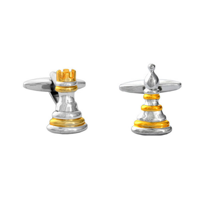 Pawn And Rook Cufflinks