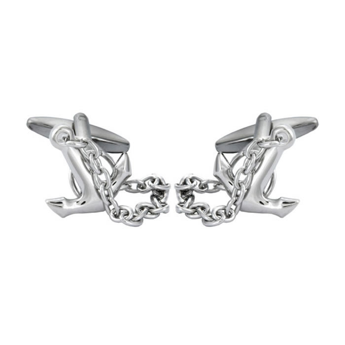 Anchor And Chain Cufflinks