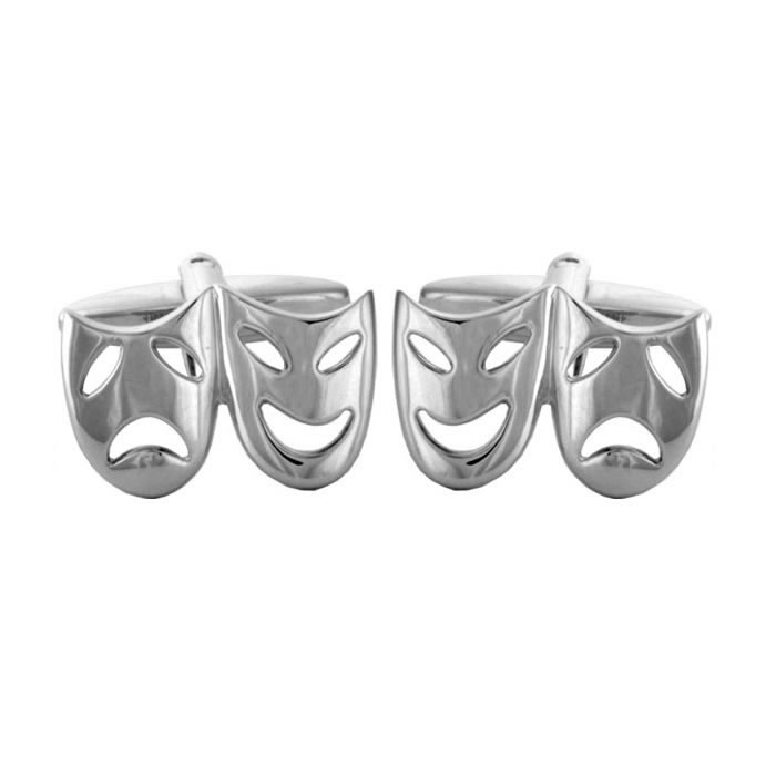 Theatrical Mask shaped Cufflinks