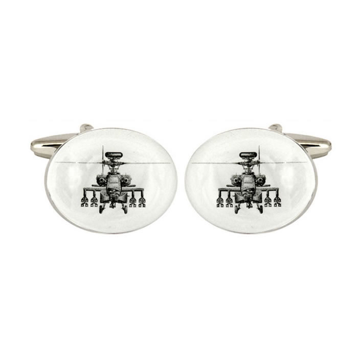 Apache Helicopter Cufflinks