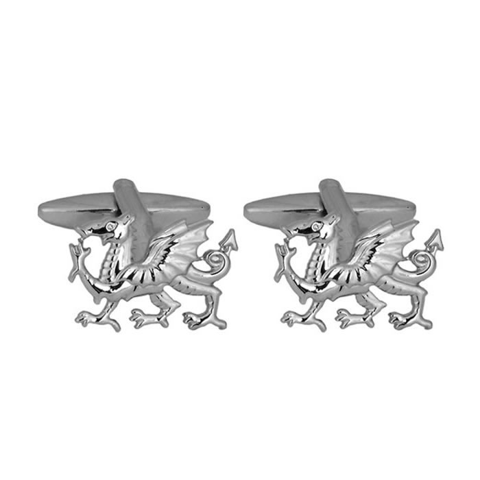 Welsh Dragon Shaped Cufflinks