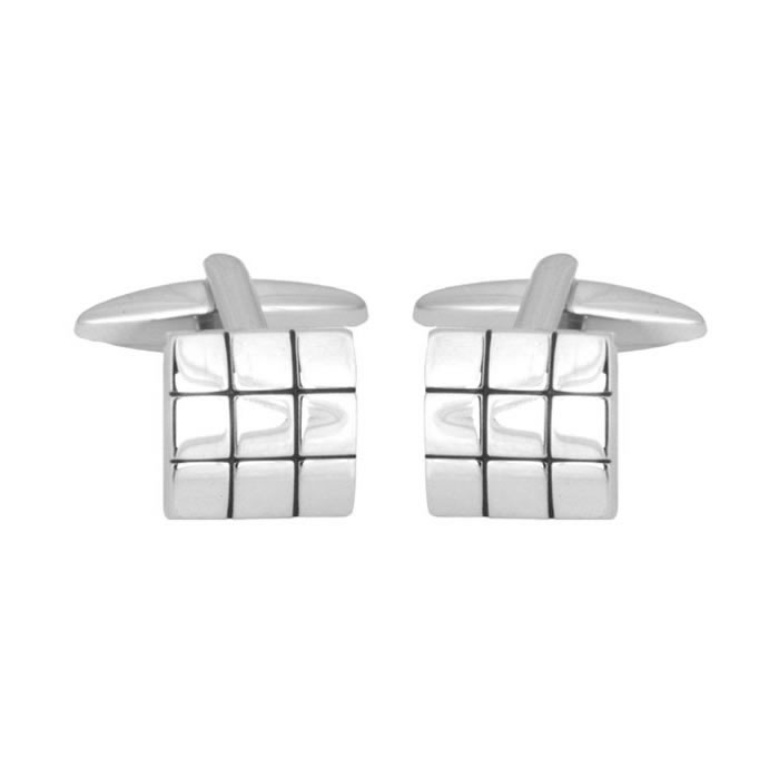 Grid Effect Cufflinks