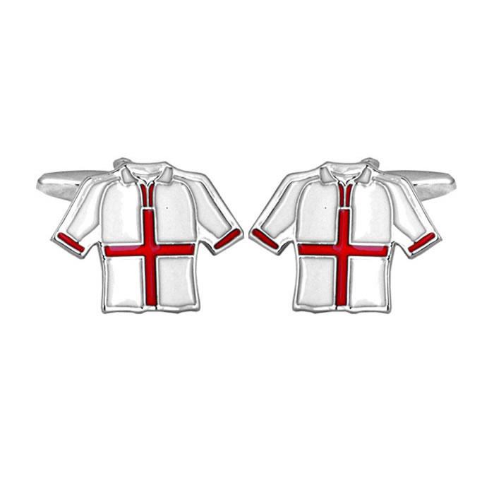 England Football T Shirt Cufflinks