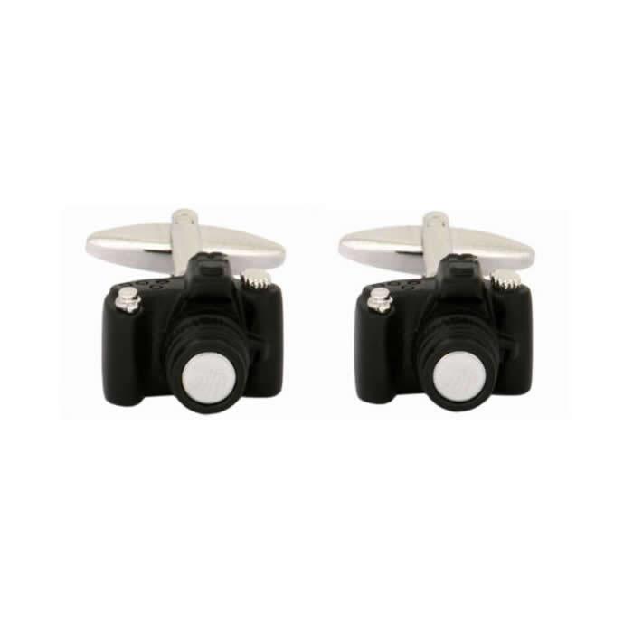Black Camera Cufflinks