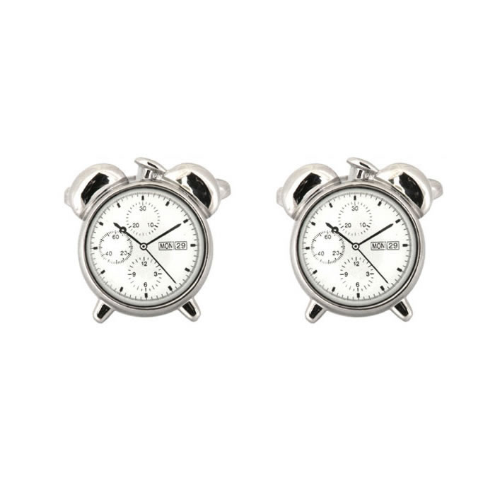 Alarm Clock Face Cufflinks