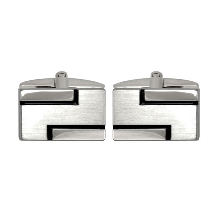 Geometric S Shape Cufflinks