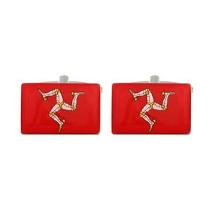 Isle Of Man Red Flag Cufflinks