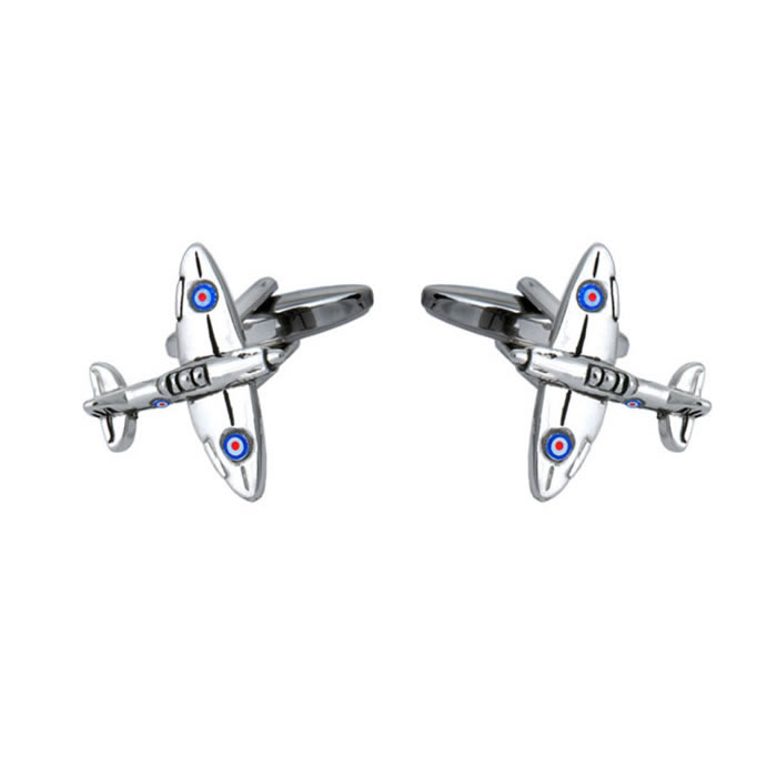 Spitfire Fighter Plane Cufflinks