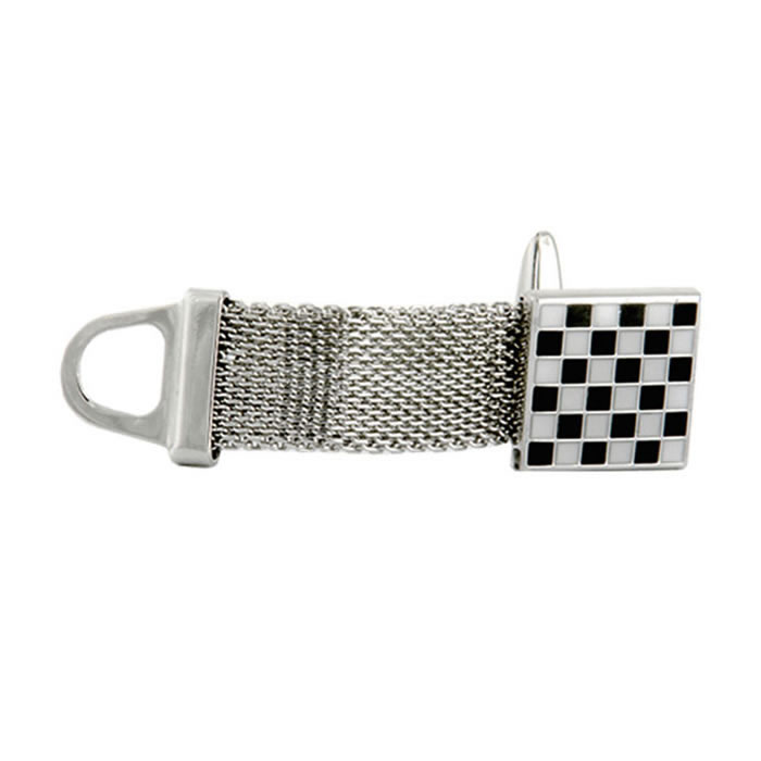 Chequered Belt Buckle Wraparound Cufflinks