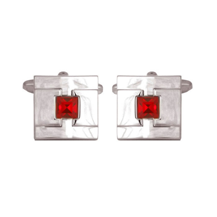 Apollo Red Crystal Cufflinks
