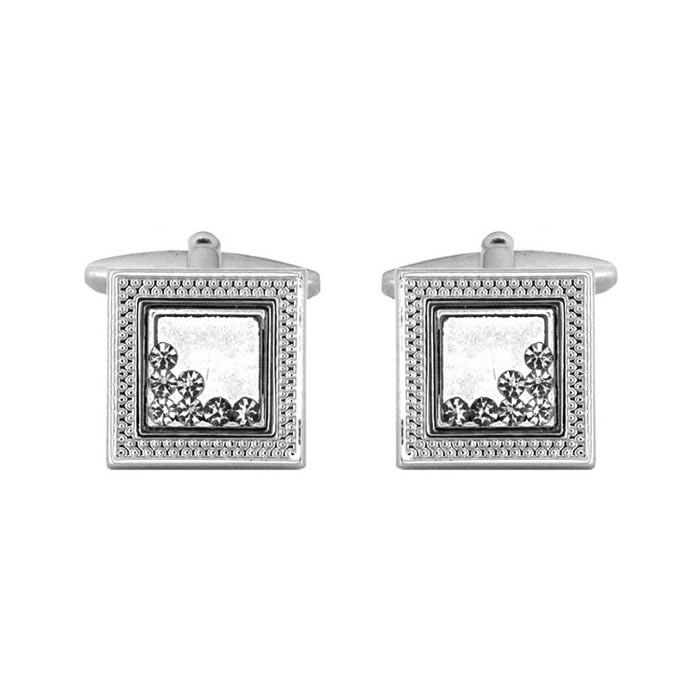 Square Fireplace Effect Cufflinks