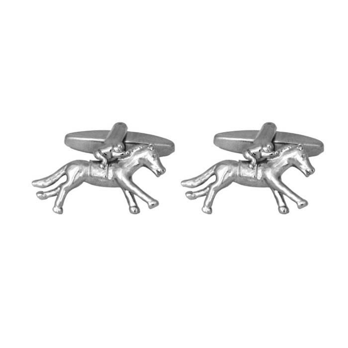 Silver Racing Horse Cufflinks