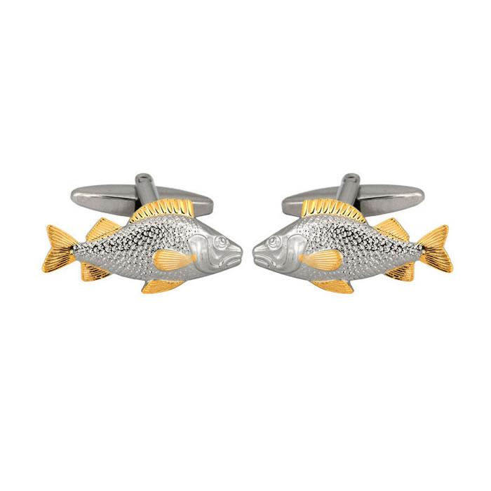 Gold Fin Fish Cufflinks