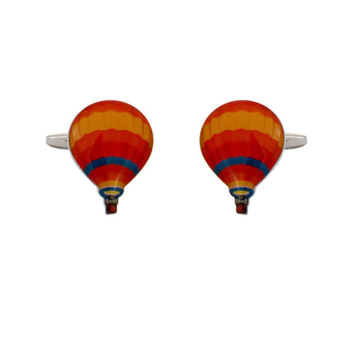Multi Coloured Hot Air Balloon Cufflinks