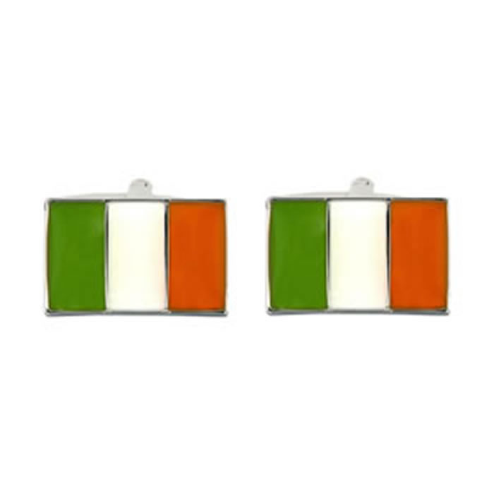Irish Flag Rectangular Cufflinks