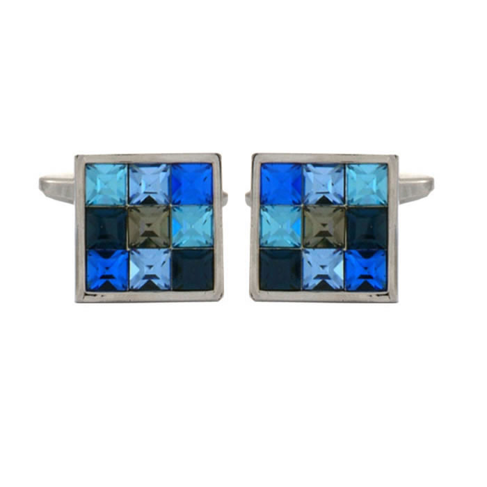 Blue Multi Square Cufflinks