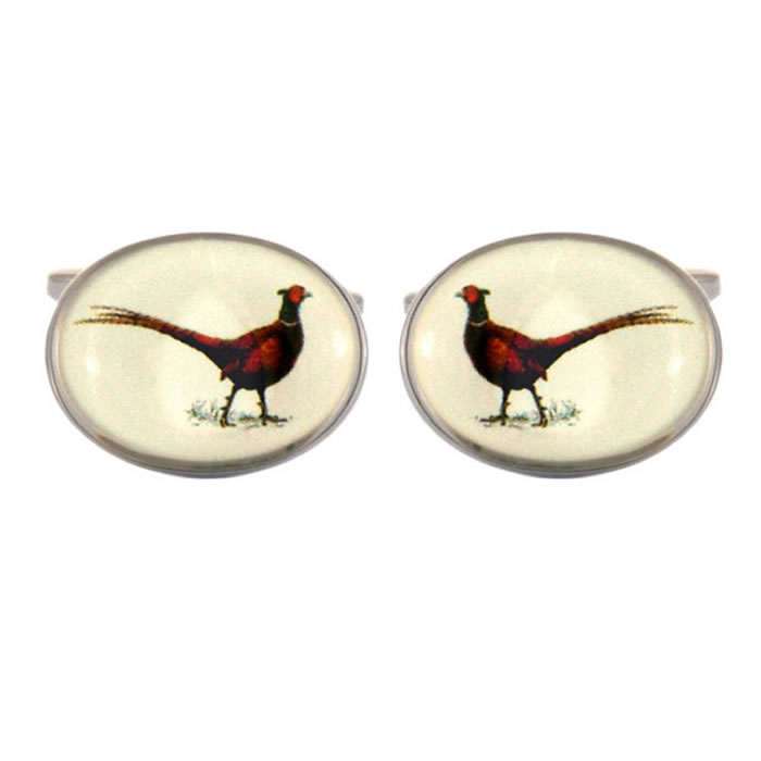 Pheasant Oval Cufflinks