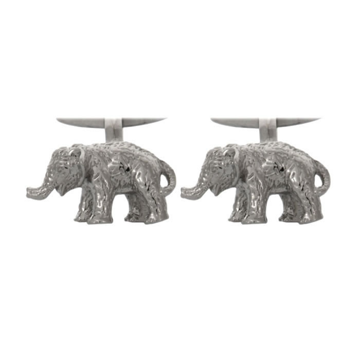 Detailed Elephant Cufflinks
