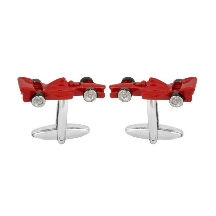 Red Racing Car F1 Cufflinks
