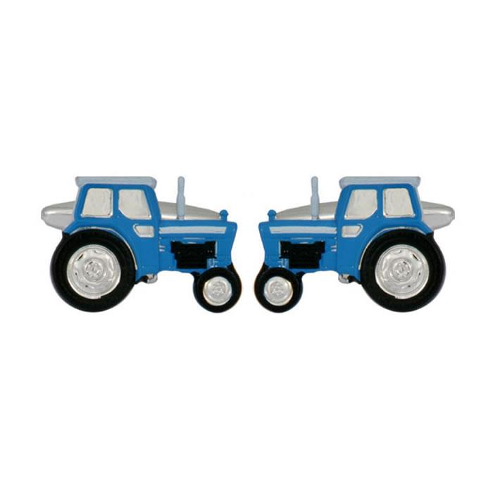 Blue Tractor Style Cufflinks