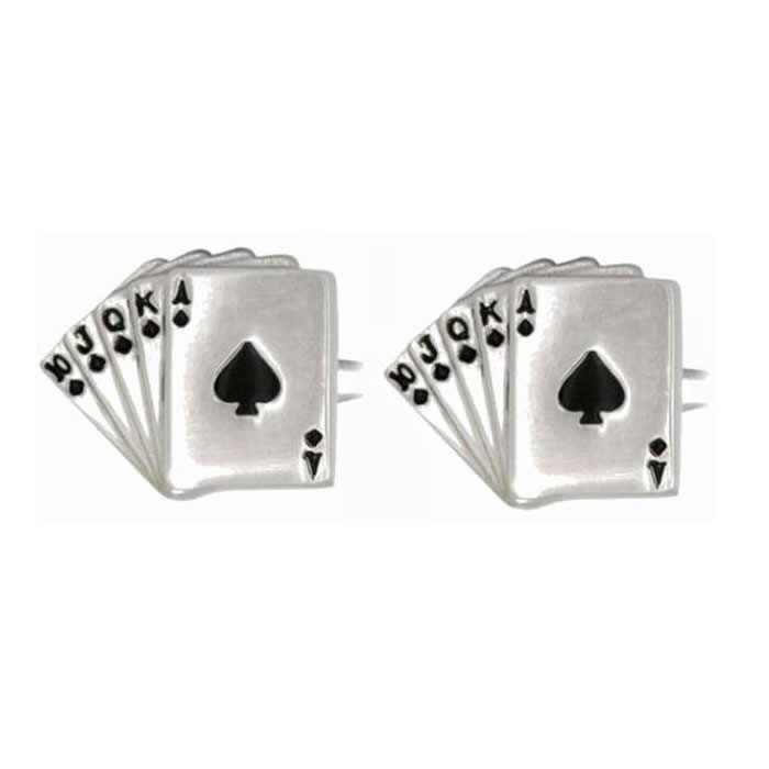 Fan Of Spade Cards Cufflinks