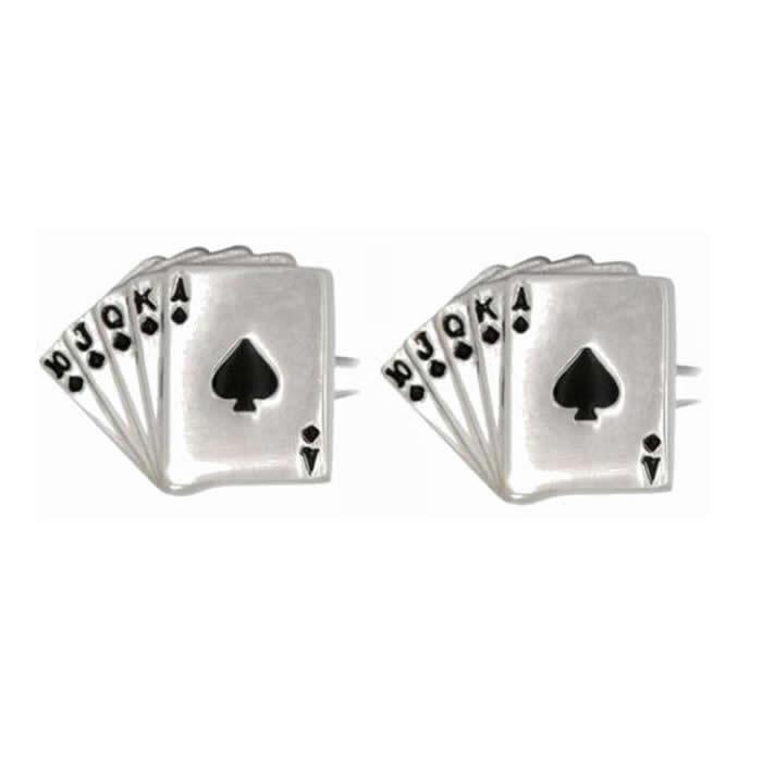 Fan Of Spade Cards Cufflinks