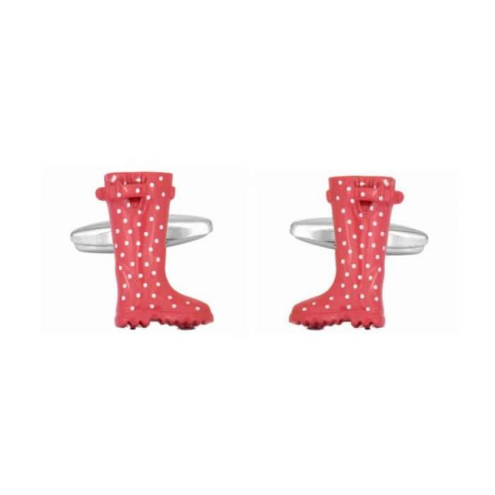 Pink Wellies Cufflinks